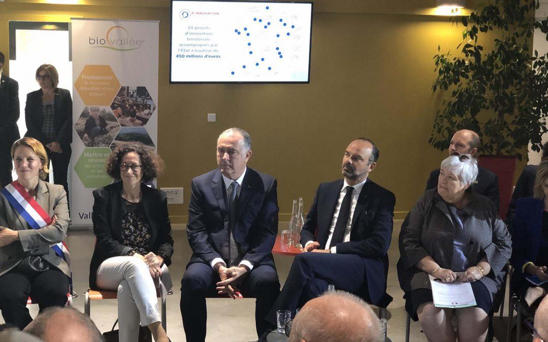Edouard Philippe annonce les lauréats du TIGA en Biovallée !