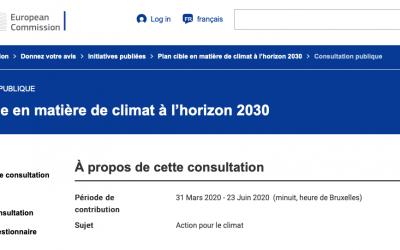 Et demain ? – participation Européenne- Green Deal-