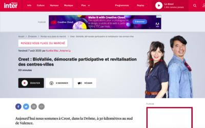 Biovallée sur France Inter :  «Rendez vous place du Marché»